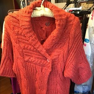 Women's short sleeve sweater, Coral color